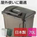 日本製 SP ハンドル付ダストボックス 70L ゴミ箱 ごみ箱 ダストボックス ふた付き おしゃれ 分別 屋外 70L可 70リットル可 スリム キッチン インテリア雑貨 北欧 リビング くずかご か