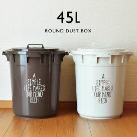 ゴミ箱 ふた付き 丸型 おしゃれ 45リットル 45L 大容量 分別 屋外 収納 おしゃれ キッチン プラスチック 生ゴミ 日本製 ふた付き ダストボックス ごみ箱 大型 生ごみ 北欧 インテリア雑貨 ( 丸型カラーペール 45L )