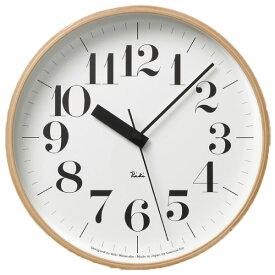 掛け時計 【フック付き】 タカタレムノス Lemnos Riki Clock WR 20-02 掛時計 壁掛け時計 電波時計 おしゃれ インテリア雑貨 北欧 アンティーク調 木製 デザイン リビング ブランド レトロ かわいい 大型 木枠 モダン ムーブメント ウォールクロック