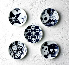 【KIHARA(キハラ)】ROCK豆皿(ハート・ファイヤー・かいぞく・エンジェル・スター)5枚セット【ギフト包装可】 誕生日 プレゼント 贈り物 お祝い【 有田焼 陶器 食器】