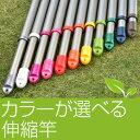 【日本製】物干し竿 伸縮物干し竿 (長さ1.6mから2.8mまで伸びる)シャンパンゴールド色 物干しさお 室内 屋外 ベラ…