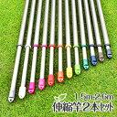 物干し竿 2本セット (1.5Mから2.6mまで伸びる)シャンパンゴールド色 サビないアルミ 物干し竿 【日本製】【メーカー…