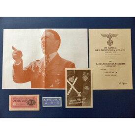ヒトラー演説 ナチスドイツ勲記 紙幣 ハンガリー領軍票 伝単