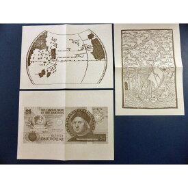 トスカネリ世界地図 コロンブス肖像紙幣 西インド諸島の図