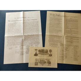 アメリカ独立宣言 アメリカ合衆国憲法 南北戦争南軍紙幣