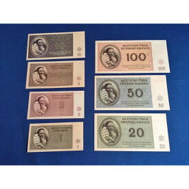 ナチスドイツユダヤ人収容所 紙幣 7種 レプリカ