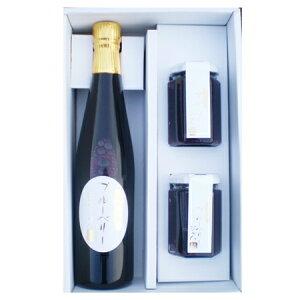 【国産】山形産 ブルーベリージュース果汁100% 500ml×1本 ブルーベリージャム180g×2のセット;【楽ギフ_のし宛書】