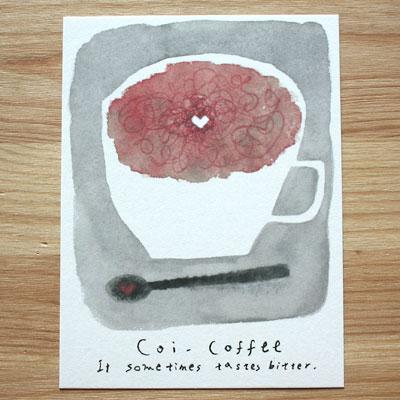 森野美紗子(もりのみさこ)ひとやすみカフェシリーズポストカード恋コーヒー