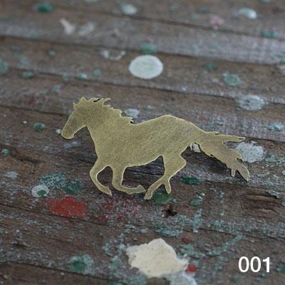 Laboratorium ラボラトリウムsilhouette pin broochシルエットピンブローチ001 ウマ