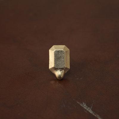Laboratorium ラボラトリウムmelted collage jewelry003(エメラルドカット)【片耳ピアス】