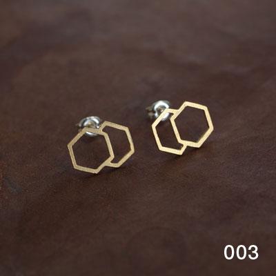 Laboratorium(ラボラトリウム)overlapping figure pierce003(六角形)