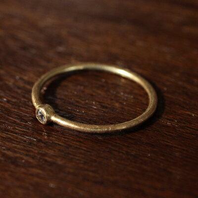 【受注販売】【送料無料】Laboratorium(ラボラトリウム)rim setting ring 2mm 10KYG#9/#13