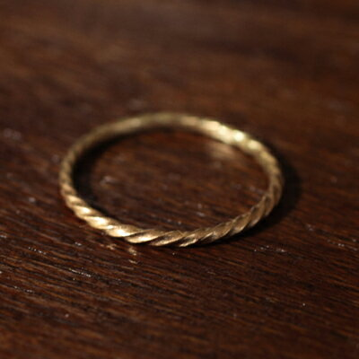 【受注販売】【送料無料】Laboratorium(ラボラトリウム)rope & thread ring 10KYG 002#9/#11