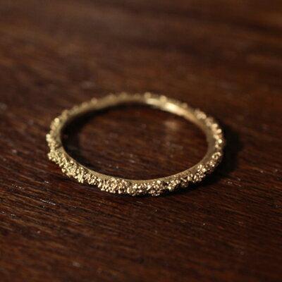 【受注販売】【送料無料】Laboratorium(ラボラトリウム)sparkle texture ring 10KYG#9/#13
