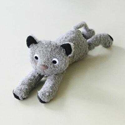 ATSUKO MATANOあそぼ ぬいぐるみふにゃふにゃ猫シリーズグレー