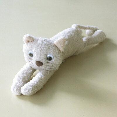 ATSUKO MATANOあそぼ ぬいぐるみふにゃふにゃ猫シリーズホワイト キョロ