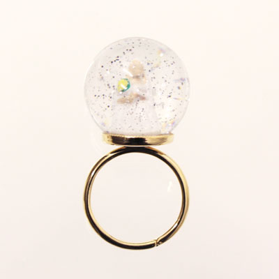 【送料無料】lilldesignlabSnow Globe Ringスノーグローブリング花嫁