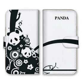 手帳型 全機種対応 ケース SIMフリー対応 スマホ スマートフォン iPhone11 X/XS Max対応ケース パンダ 動物 シリーズ 猫 ネコ 熊 クマ 白黒 定番 人気 オススメ レトロ 可愛い かわいい カジュアル 海外 デザイナー 個性 set10398