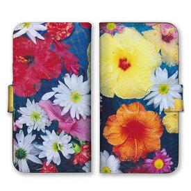 手帳型 全機種対応 ケース SIMフリー対応 スマホ スマートフォン iPhoneX/XS Max XR対応ケース花柄 花 フラワー flower 水彩 鮮やか さわやか アート アート柄 デザイン 写真 リアル 綺麗 可愛い ピンボケ ピンク 緑 青 set10814