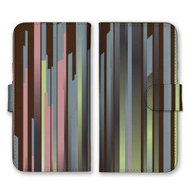 手帳型 全機種対応 ケース SIMフリー対応 スマホ スマートフォン iPhone11 X/XS Max SE2対応ケース 立体 しましま マルチ ストライプ 縦縞 まっすぐ イレギュラー お洒落 かっこいい かわいい 茶 赤紫 カーキ グレー set11024