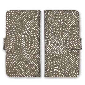 手帳型 全機種対応 ケース SIMフリー対応 スマホ スマートフォン iPhoneX/XS Max XR対応ケース 手書き 円 下手 種 水玉 点々 ドット 模様 柄 カラフル 派手 奇抜 芸術 個性的 らくがき 豹柄 ベージュ 白 ホワイト set11292