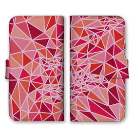 手帳型 全機種対応 ケース SIMフリー対応 スマホ スマートフォン iPhone11 X/XS Max SE2対応ケース 三角形 ガラス 結晶 綺麗 デザイン アート柄 模様 3Dアート 派手 奇抜 芸術 柄 模様 折り紙 だまし絵 カラフル 黄 カーキ 白 set11500