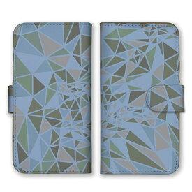 手帳型 全機種対応 ケース SIMフリー対応 スマホ スマートフォン iPhone11 X/XS Max SE2対応ケース 三角形 ガラス 結晶 綺麗 デザイン アート柄 模様 3Dアート 派手 奇抜 芸術 柄 模様 折り紙 だまし絵 迷彩 カーキ グリーン 緑 set11507
