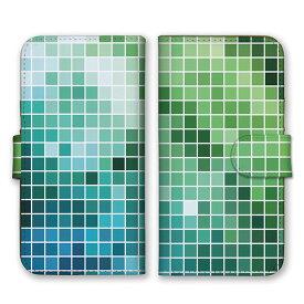手帳型 全機種対応 ケース SIMフリー対応 スマホ スマートフォン iPhone11 X/XS Max対応ケース チェック柄 タイル 四角形 デザイン アート アート柄 シック 芸術 綺麗 柄 模様 お洒落 オシャレ 総柄 緑 白 深緑 グリーン set12788