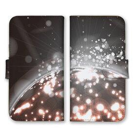 全機種対応 手帳型 スマホケース SIMフリー対応 点々 星 STAR 光 神秘 芸術 デザイン アート オーロラ 幻想的 模様 ミラーボール 個性的 奇抜 灰 白 銀 シルバー グレー set13148 iPhone12 11 Pro Max SE(第2世代) XS Galaxy Xperia AQUOS