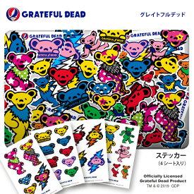 ステッカー GRATEFUL DEAD グレイトフル・デッド キャラクター グッズ シール 正規品 ロックバンド グレイトフルデッド デッドベアー ロゴ 送料無料 おしゃれ 可愛い 人気