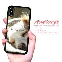 【送料無料】耐衝撃iPhoneケースTPUハードケースiPhonexケースiphone8ケースiPhone7iPhone6s流行トレンドセレブデザイン動物アニマル犬写真きれい背景