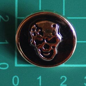 ボタン プラスチックボタン・足付き・直径約25mm スカル 髑髏 ドクロ
