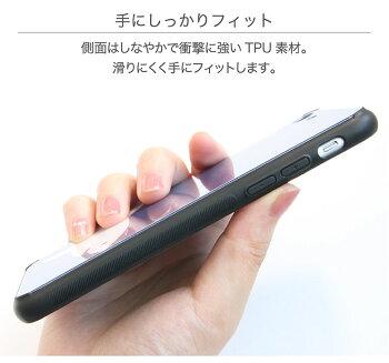 ステンドグラス風/グラデーション/スマホケース/ガラスケース/便利/スマートフォン/持ちやすい/iphone8/大人/かわいい/アイホンX