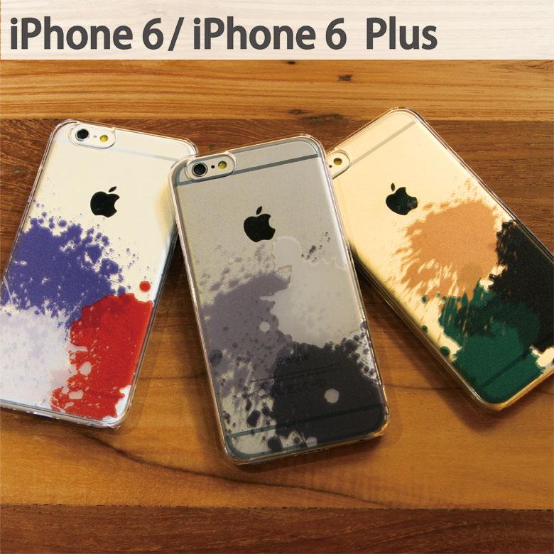 スマホケース iPhone 6 iPhone 6s iPhone 6sPlus ケース 対応 クリアケース Paint | アイフォン スマホ ハード スマホカバー カバー パンク クール