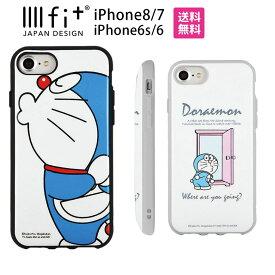 ドラえもん IIIIfit イーフィット iPhone8 iPhone7 4.7インチモデル対応 プロテクターケース どらえもん ブルー 青 グレー アイフォン8 ドラエモン 耐衝撃 ストラップホール付き スマホカバー アニメ| スマホケース iphoneケース ケース かわいい iphone7ケース キャラクター