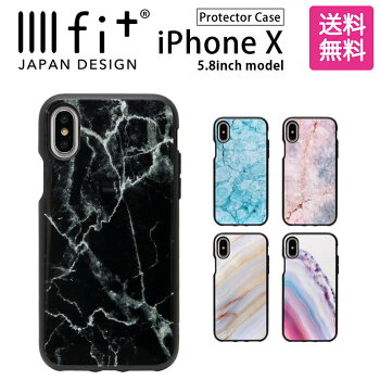 スマホケース/iPhoneX/5.8inch/アイフォンX/ジャケット/カバー/ソフトケース/アクセサリー/大理石風/ストーン/IIIIfit
