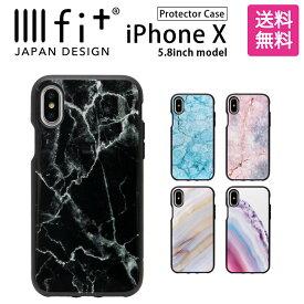 IIIIfit Premium イーフィット iPhone X 5.8インチモデル対応 耐衝撃 大理石風 スマホカバー アイフォンX iPhoneX| スマホケース iphoneケース iphonexs xs ケース アイフォンxs アイフォン カバー テンエス おしゃれ xsカバー アイフォンケース ハード ハードケース iphone6