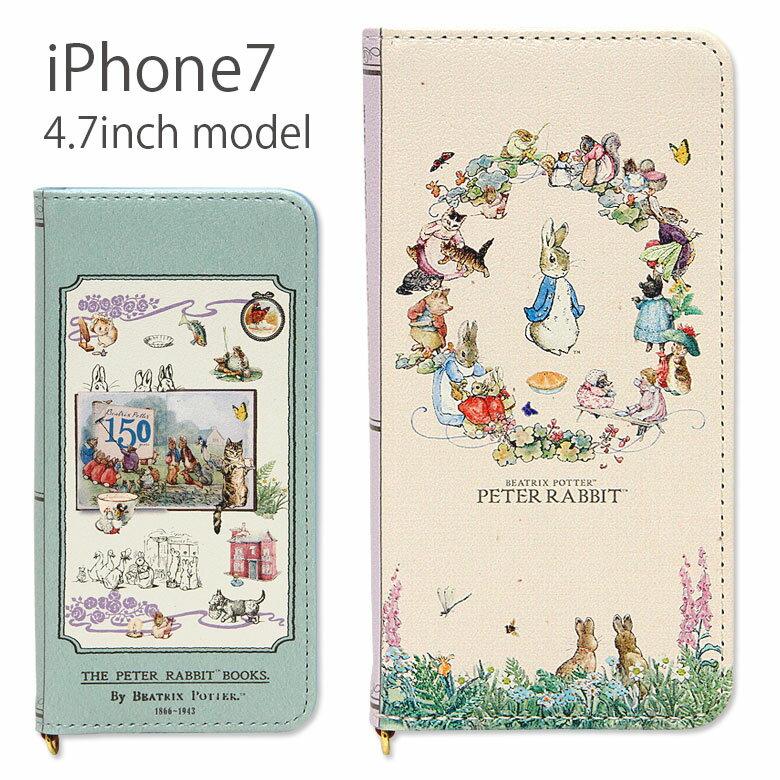 送料無料 iPhone7ケース 手帳型 ピーターラビット| iPhone7 アイフォン7 ケース スマホケース キャラクター かわいい おしゃれ うさぎ ウギサ