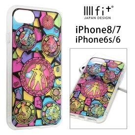 美少女戦士セーラームーン IIIIfit clear iPhone8 iPhone7 ケース ステンドグラス クリアケース おしゃれ スマホケース キャラクター カバー ジャケット アイフォン 8 アイホン7 iPhone 7ハードケース アイホン かわいい グッズ