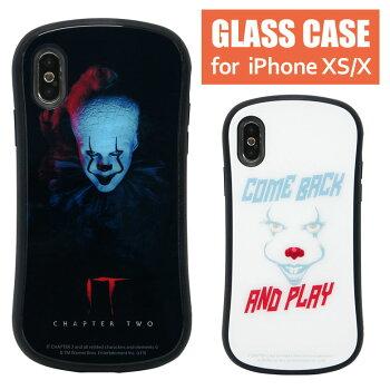 IT/イット/ペニーワイズ/ハイブリッドケース/iPhoneXS/強化ガラスケース/スマートフォン/持ちやすい/iphone/かわいい/アイホンXS