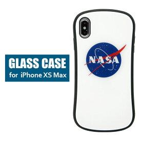 NASA ハイブリッドケース iPhone XS Max 6.5インチ ガラスケース スマホケース カバー ジャケット 高硬度 9H ロゴ マーク アメリカ航空宇宙局 ミートボール 宇宙 グッズ アイホンxs max アイフォンXS MAX 人気 iPhoneXS max