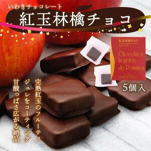 [いわきチョコレート] チョコレート 紅玉林檎チョコ 5個/ バレンタイン ホワイトデー 土産 /いわき/チョコレート/福島/塩キャラメル/濃厚/チョコラスク/オリジナル/ボンボンショコラ/焼き菓