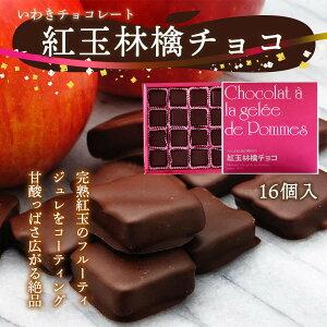 [いわきチョコレート] チョコレート 紅玉林檎チョコ 16個/ バレンタイン ホワイトデー 土産 /いわき/チョコレート/福島/塩キャラメル/濃厚/チョコラスク/オリジナル/ボンボンショコラ/焼き菓