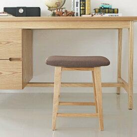 食卓椅子 スツール 来客用 インテリア ベージュ roomnhome(ルームアンドホーム) シリットウッド スツール ブラウン 33.6×29×45cm