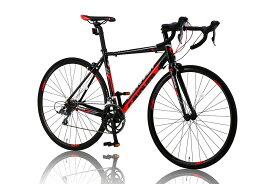 ロードバイク クロスバイク マウンテンバイク 自転車 カノーバー(CANOVER) ロードバイク 自転車 16段変速 デュアルコントロールレバー Claris アルミフレーム CAR-011 ZENOS レッド/ブラック、ホワイト