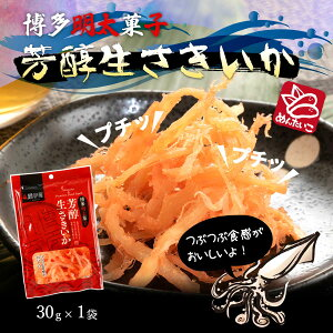 明太子 博多 福岡 ふくや さきいか おつまみ ふくや 鱈卵屋 博多明太子 芳醇生さきいか 30g
