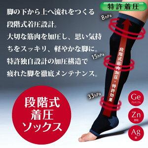 【ProtectX×島耕作】プロテクトエックスメンズオープントゥ着圧ソックス強圧サポート(膝上)