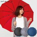 傘 レディース 折りたたみ 12本骨 mabu 江戸 全4色 直径98cm 折りたたみ傘 おしゃれ レイングッズ アンブレラ コンパ…
