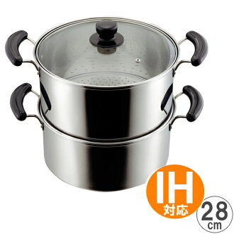 Hearthstone hands pot deep-2 28 cm IH support stainless steel deep steamer equipment double steamer deep pan stainless steel pot steamed cooking pans 2 square for pot