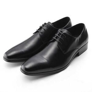 【全商品ポイント10倍】 SARABANDE サラバンド 外羽 プレーントゥ ビジネスシューズ 紳士靴 24.5cm 39サイズ 本革 ブラック 7760-BLK-39